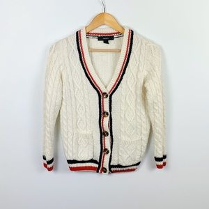 FOREVER 21 cream cable cardigan size S